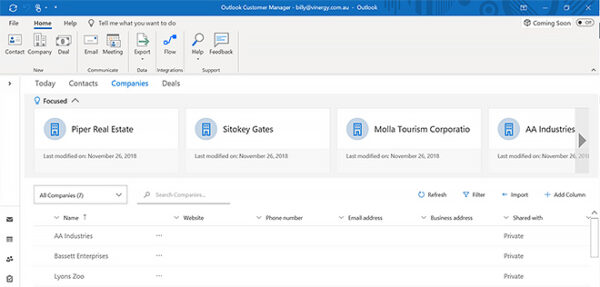 What is Outlook Customer Manager?
